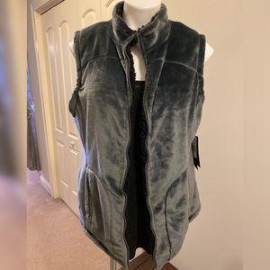 Weatherproof Soft Fleece Zipper Vest XL
